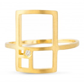 Natalie Aurea-Ring rectangle