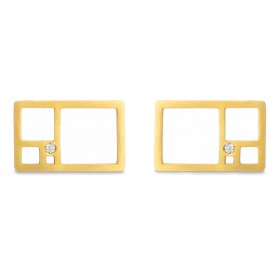 Natalie Aurea - Earrings Rectangle