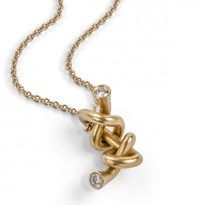 Laura Bangert - pendant gold and diamonds